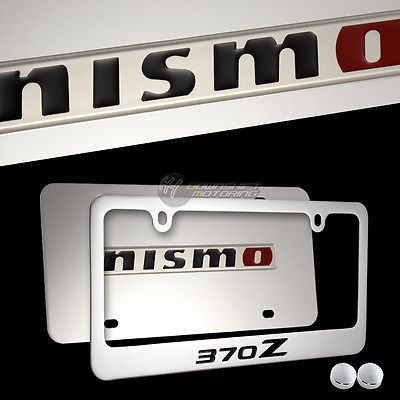 Nissan NISMO 370Z Stainless Steel License Plate Frame w/ cap -2PCS ...