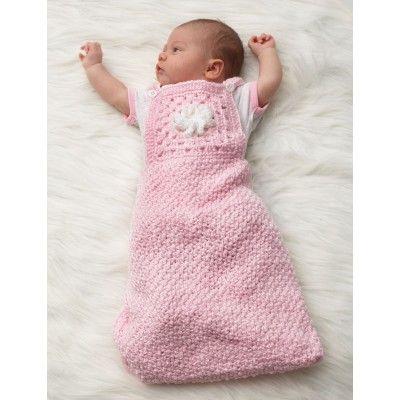 Granny motif baby sack - crochet, found on : http://com ...