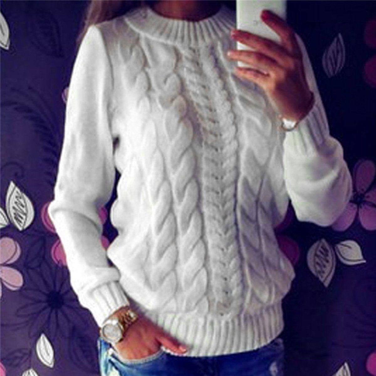 Women's Long Sleeve Loose Cardigan Knitted Sweater Jumper Knitwear Outwear Tops