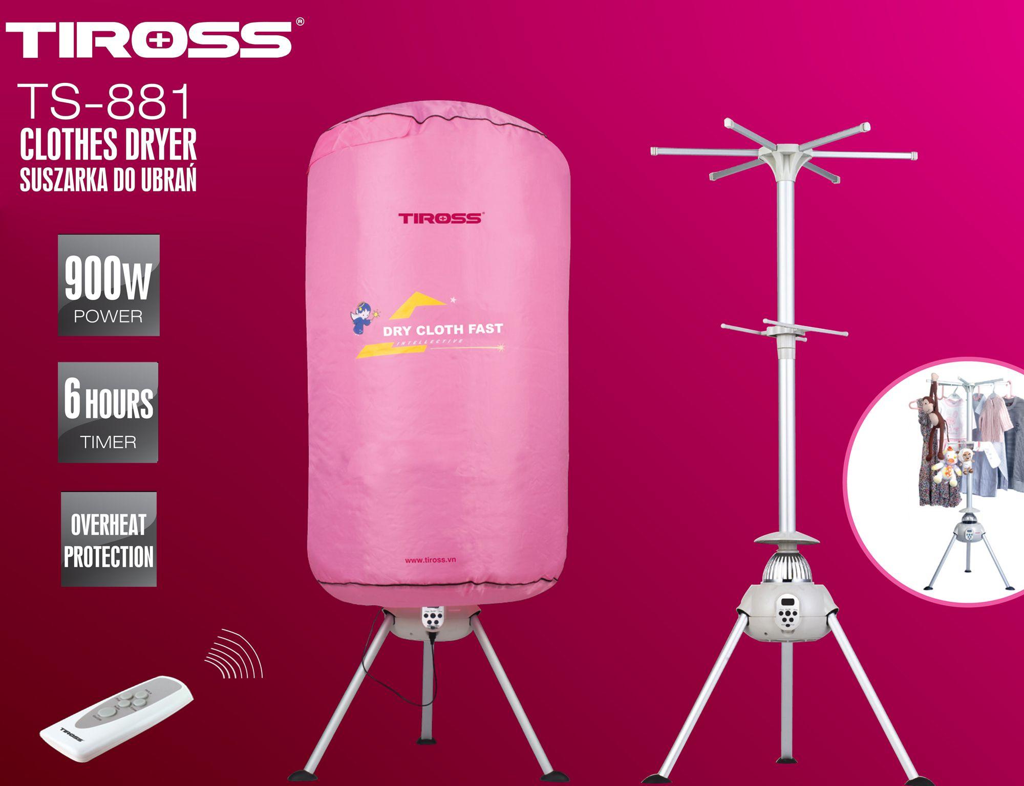 Máy sấy quần áo Tiross TS-801
