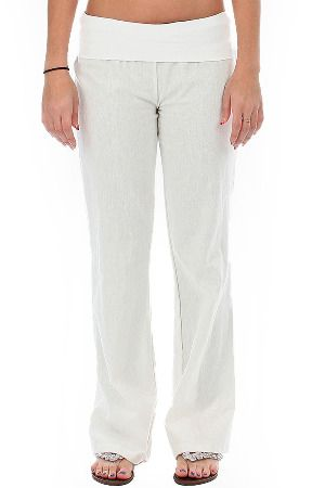 Lyss Loo Fold Over Waistband Pants in White