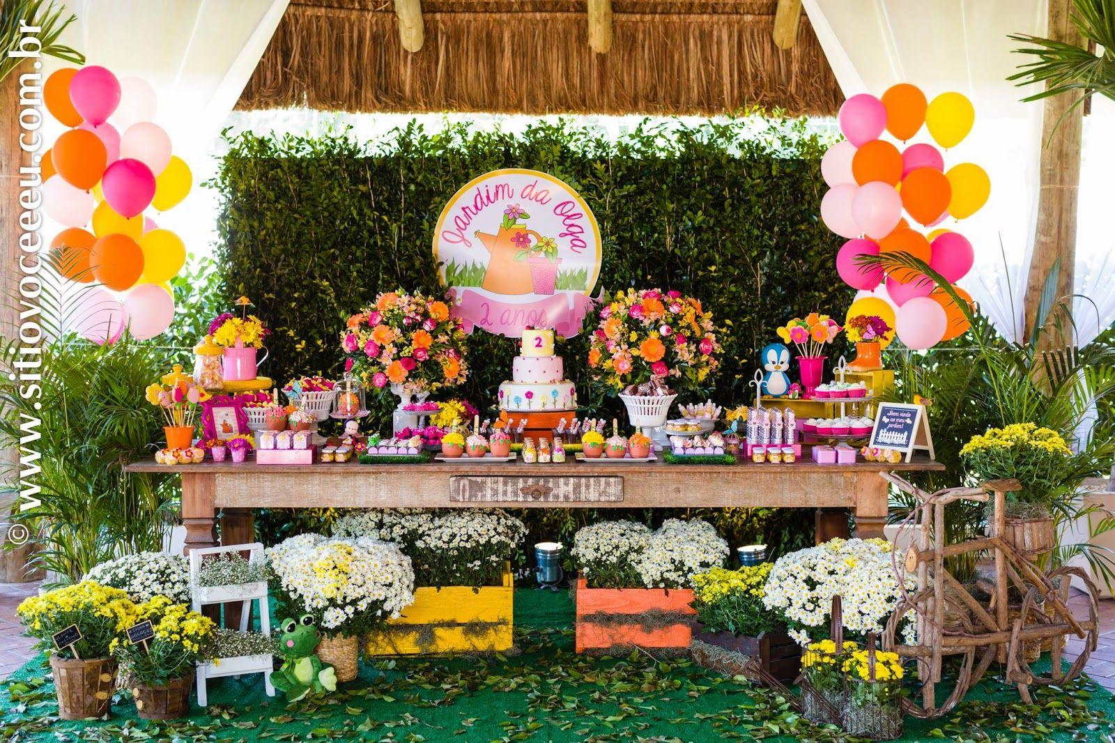 ideias festa jardim encantado : Encontrando Ideias: Festa Jardim!! Festa 1 ano Anna ...
