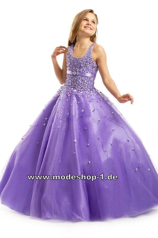 13a165f85 Perlen Kleid Abendkleid für Mädchen Lilanes Blumenmädchenkleid ...