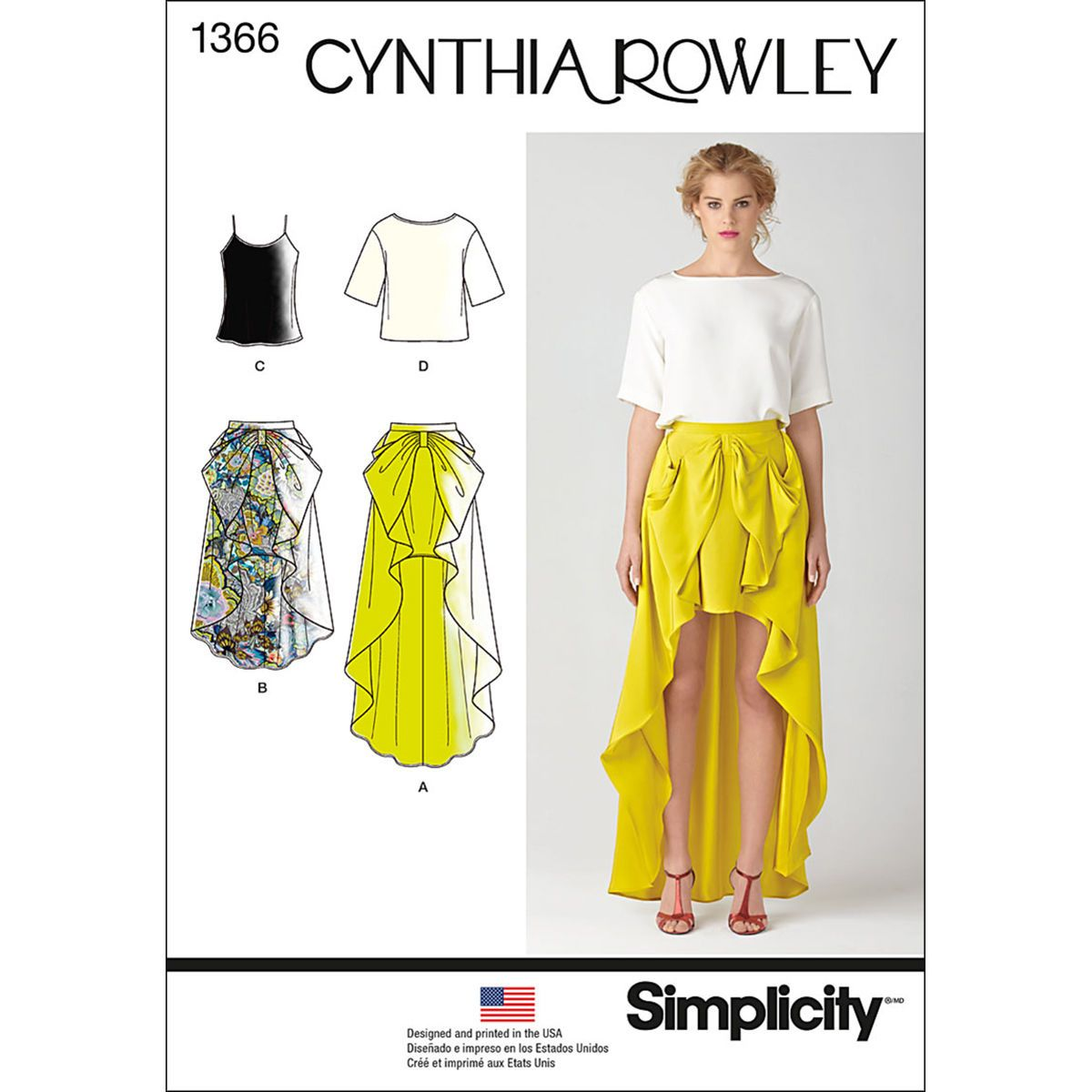 Simplicity Pattern 1366D5 4 - 6 - 8 - 10 - 1 - Misses Skirts Pants