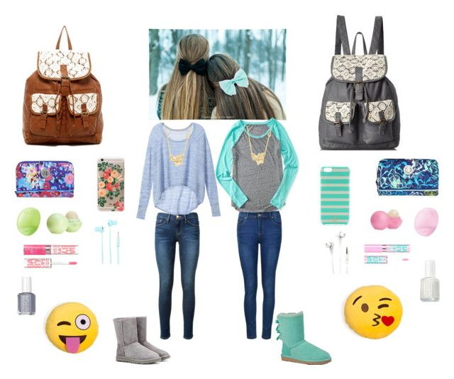 """""""Bff outfit for @sweet-and-sour-passion"""" by cupcake14123 on Polyvore featuring Frame Denim, Victoria's Secret, UGG Australia, T-shirt & Jeans, Vera Bradley, Eos, Rifle Paper Co, Sydney Evan, Aéropostale and Ally Fashion"""