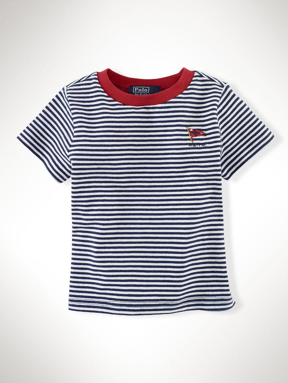 Short Sleeved Striped Tee Tees Sweatshirts Infant Boy 9m24m