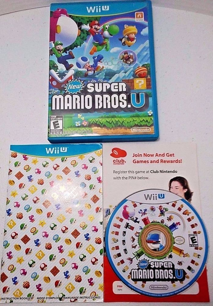 New Super Mario Bros U Wii U Nintendo Video Games Pinterest