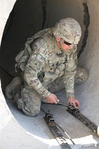 US Army Soldier Sgt Nathan Brown Route Clearance 65th Engineer Battalion
