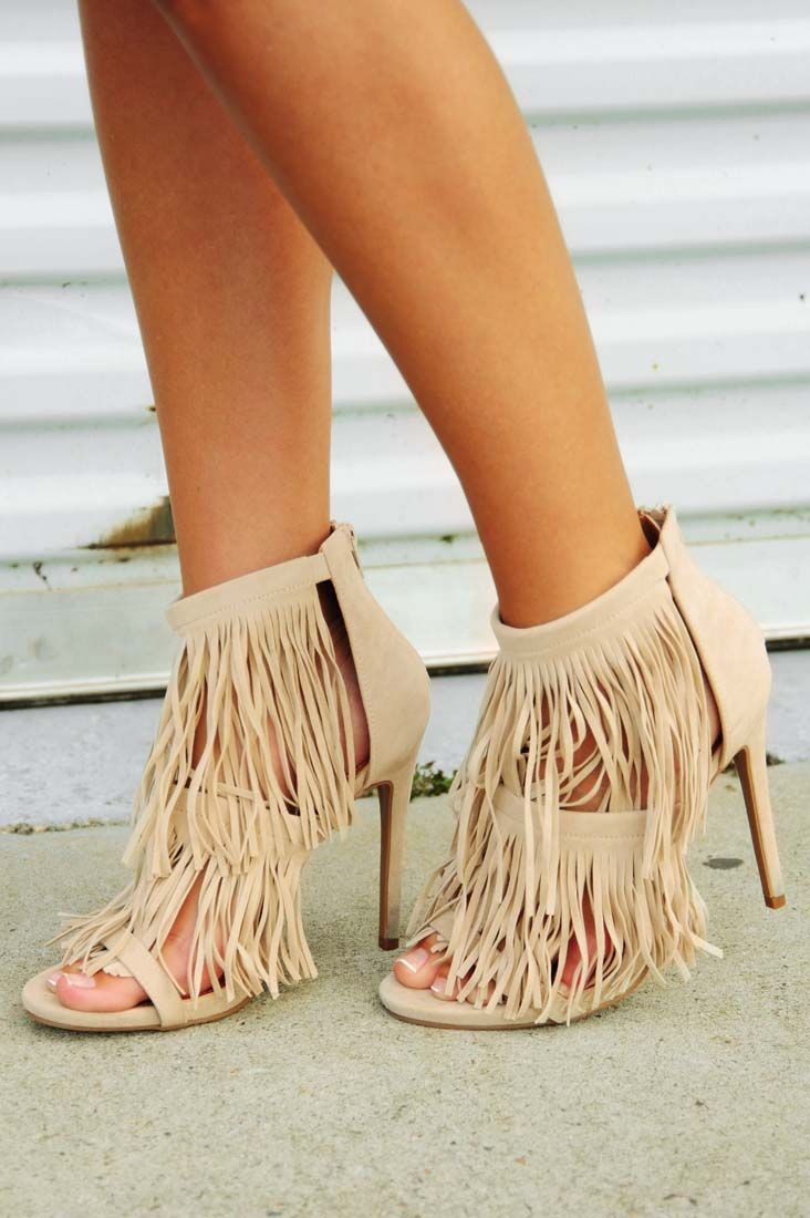 Share to save 10% on  your order instantly!  Look Don't Touch Heels: Cream