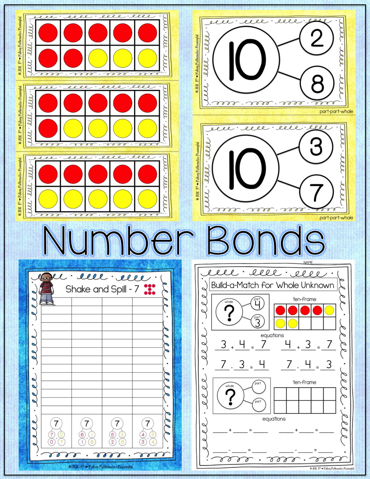 Number Bond Activities Through 10 Composing And