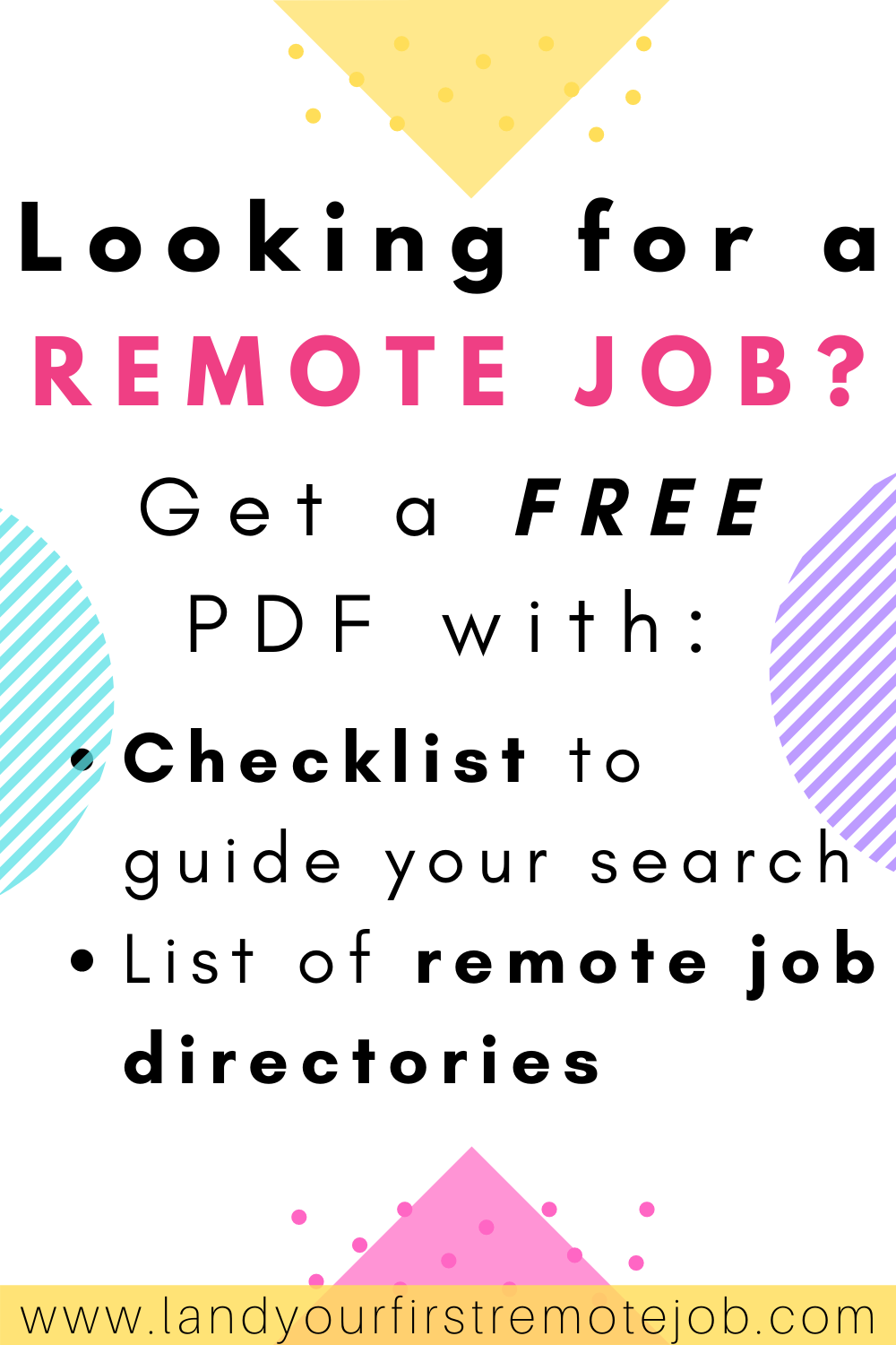 Are You Looking for a Remote Job? Get a FREE PDF Checklist