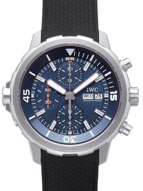 Iwc Aquatimer Chronograph Iw376805 Edition Cousteau Iwc Uhren Rolex Kaufen Kautschuk Armband
