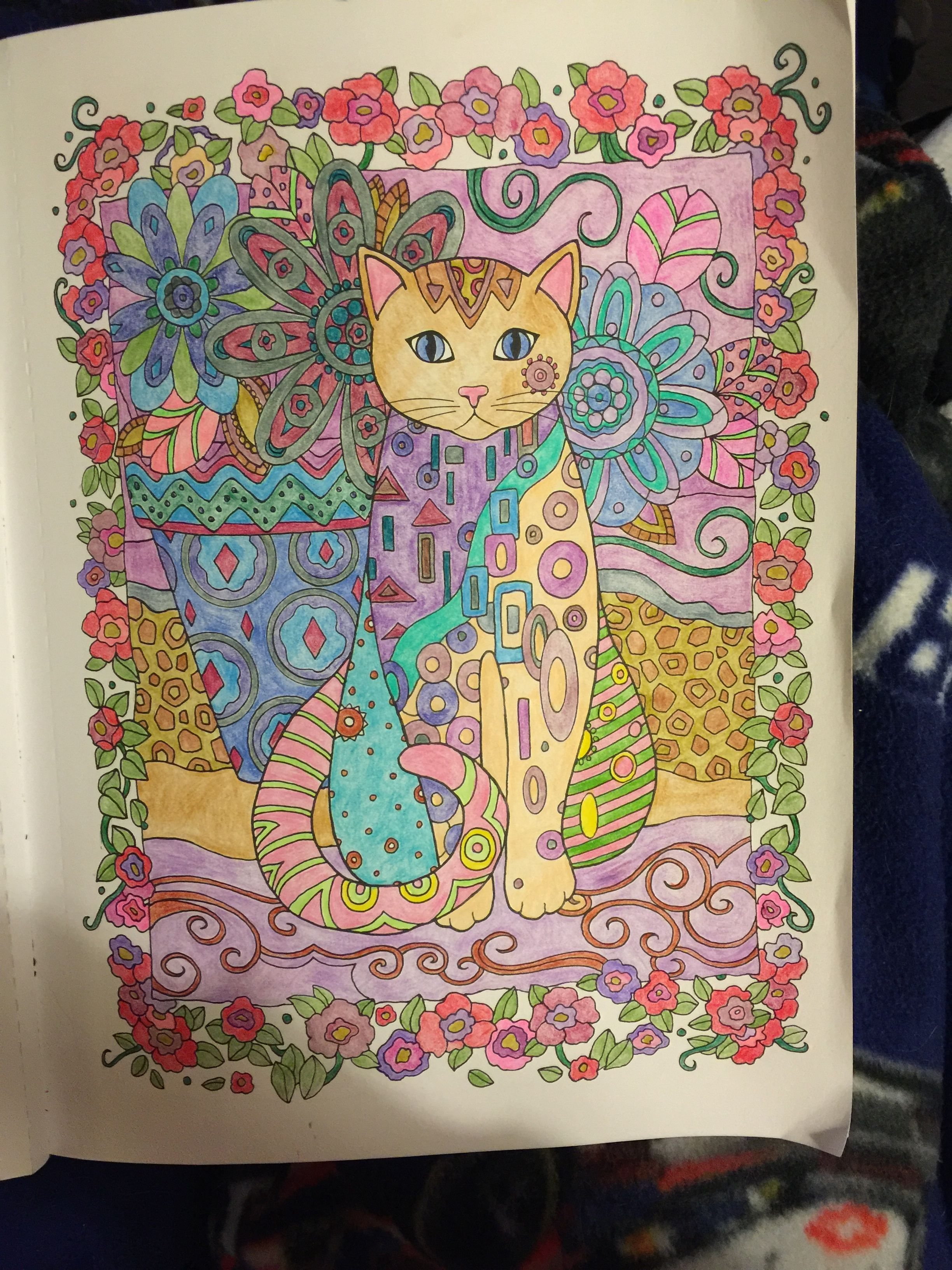 Creative cats finished coloring pages pinterest coloring pages