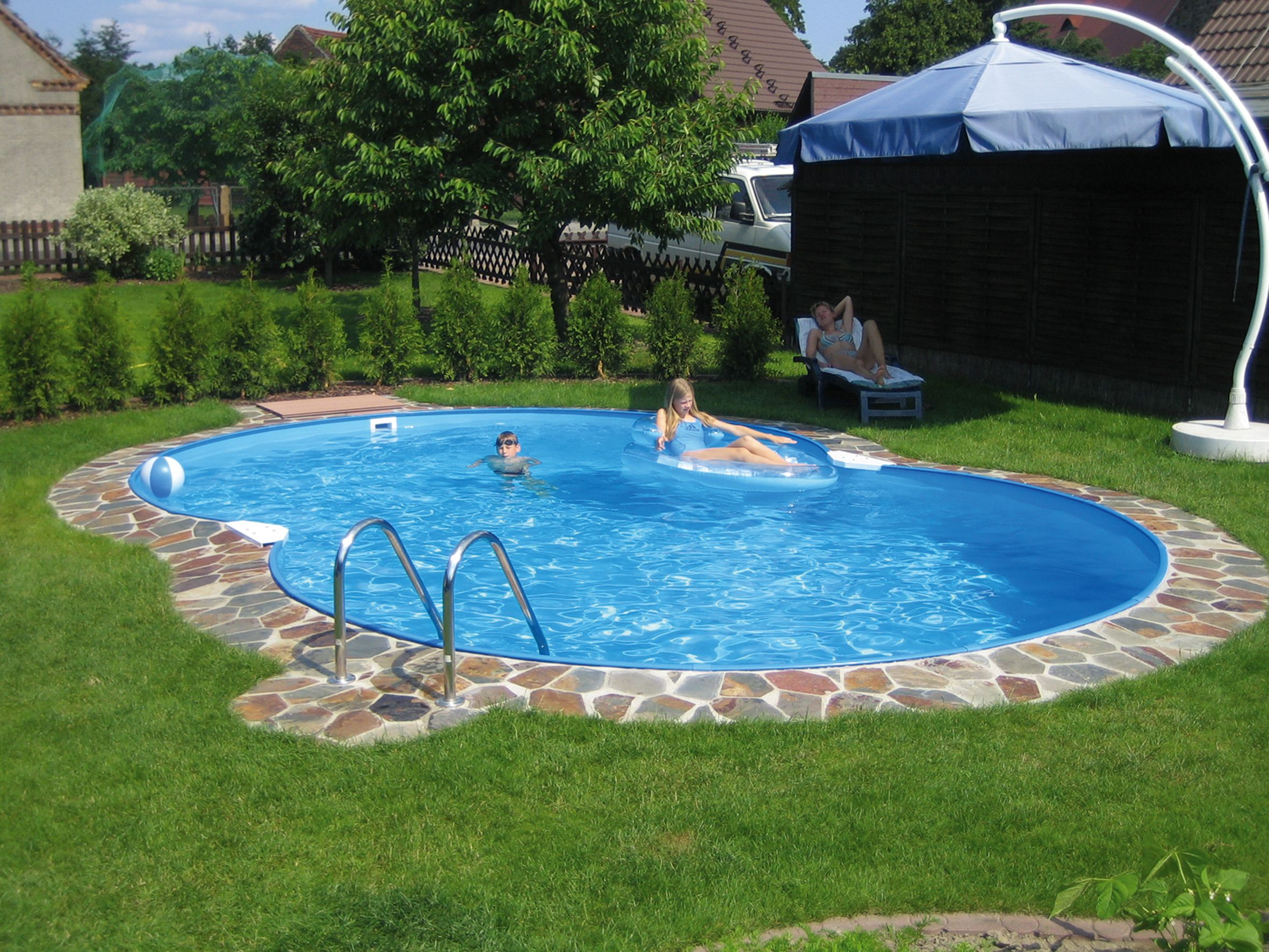 backyard landscaping ideas swimming pool design read more at wwwhomestheticsnet - Design A Swimming Pool