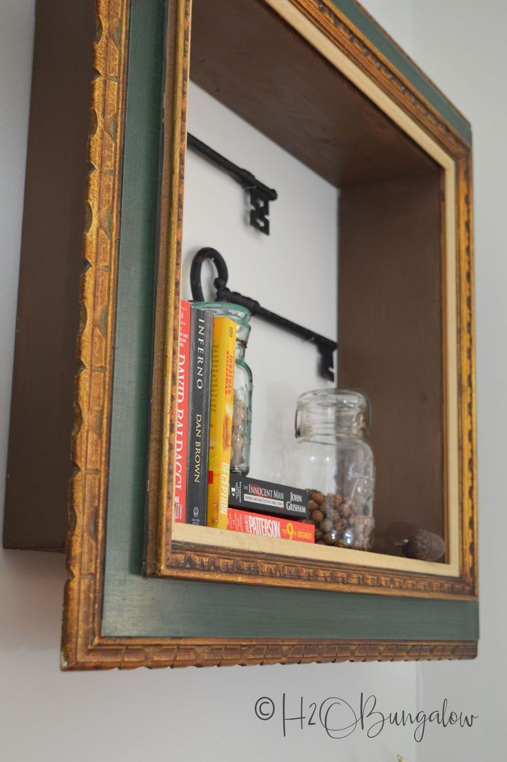 DIY Repurposed Picture Frame Wall Shelves   ! DIY- HOUSE BEAUTIFUL ...