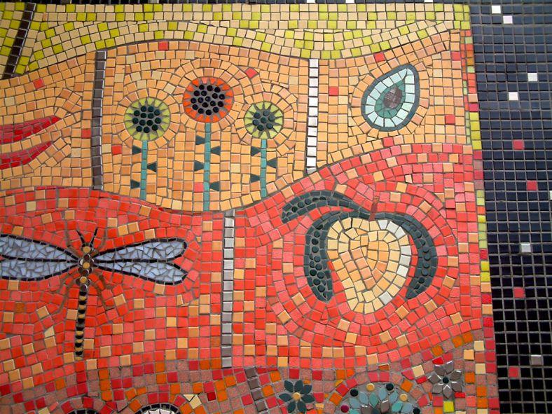 detail Mosaic murals, Centre london, Mosaic projects