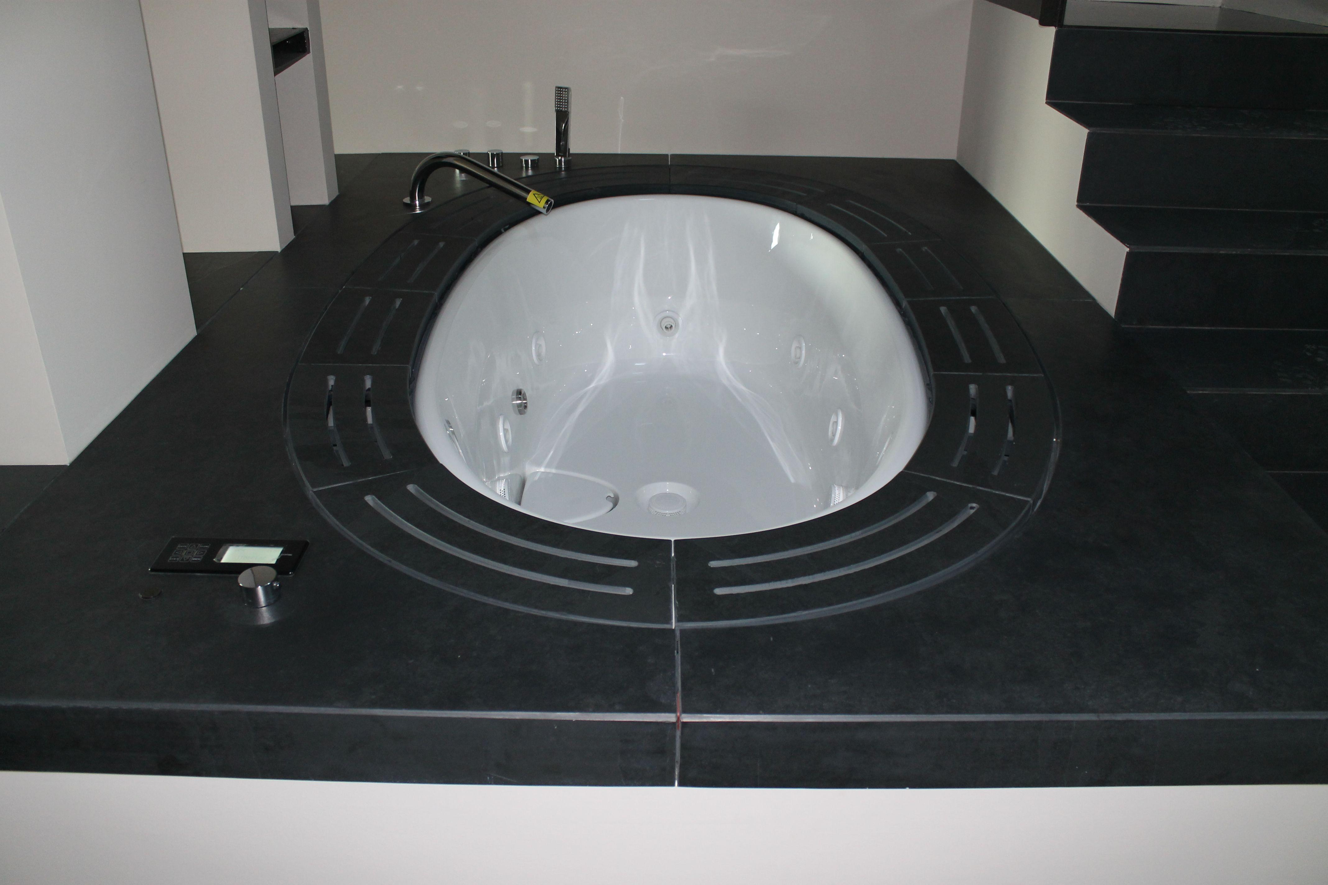 Ardesia Bagno ~ Rivestimento di una vasca in ardesia nera marmivezzoli bagni