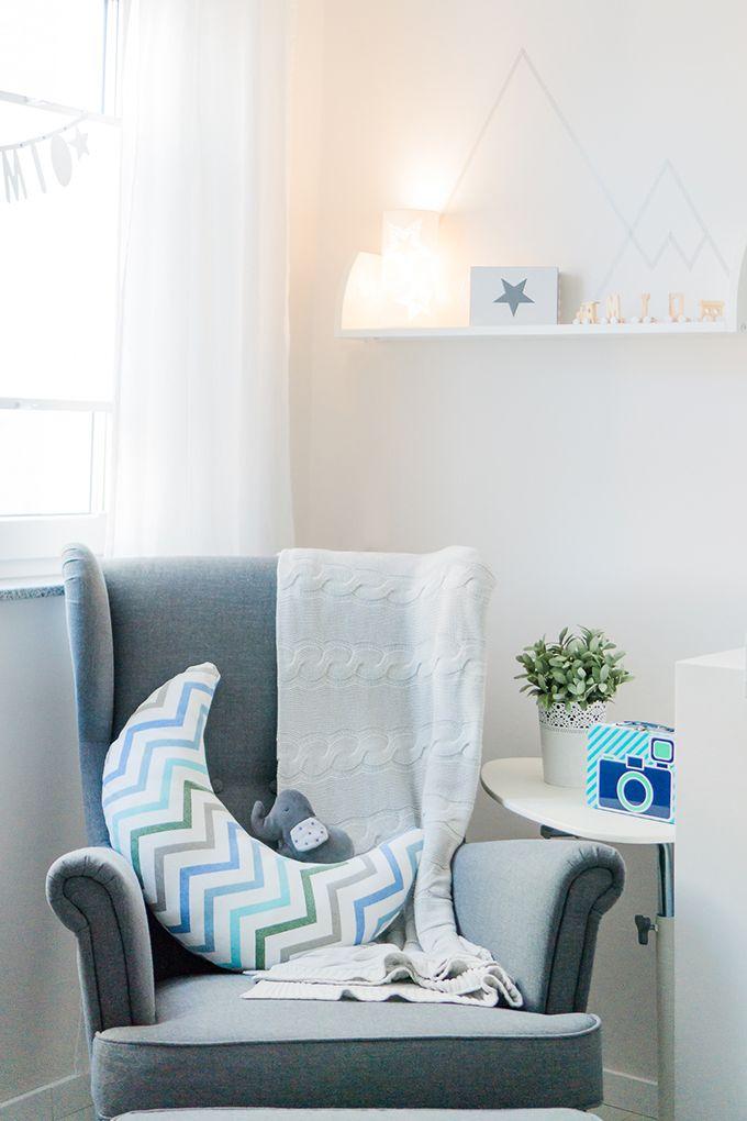 Babyzimmer hellblau grau Babyzimmer