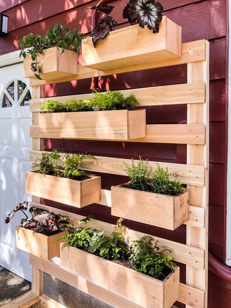 Diy vertical garden wall planter with plans vertical
