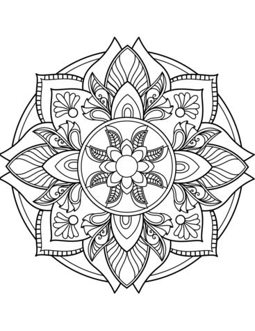 Flower Mandala Coloring Page Coloring Mandalas Ausmalbilder Mandala Ausmalbilder Ausmalen