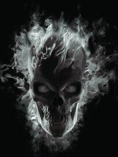 240 X 320 Ghost Skull Wallpaper Skull Wallpaper Skull Artwork Skull
