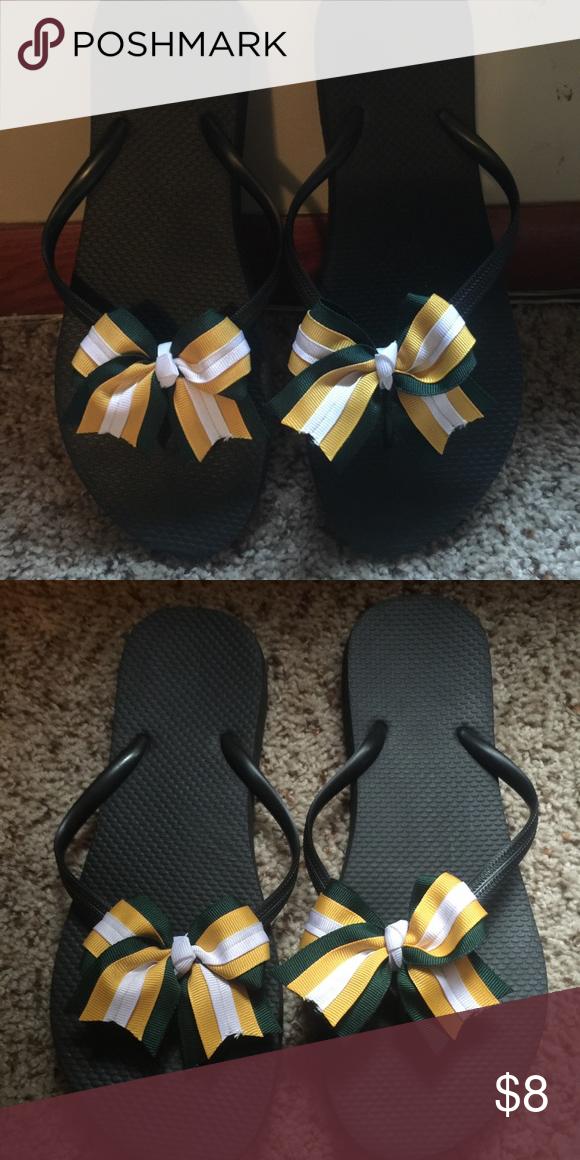 Handmade bow flip flops Handmade bow flip flops Shoes