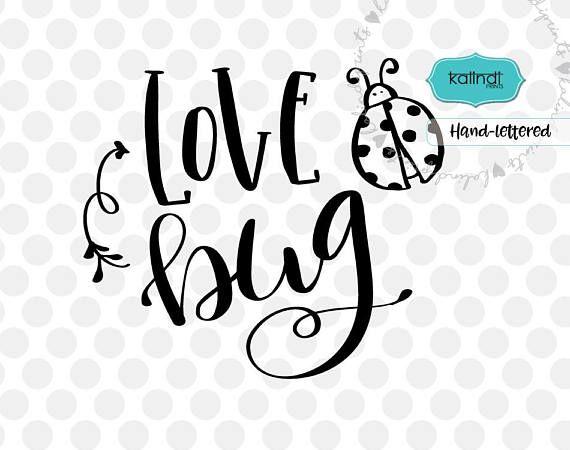 Download Love bug svg, valentine svg, hand lettering svg, funny ...