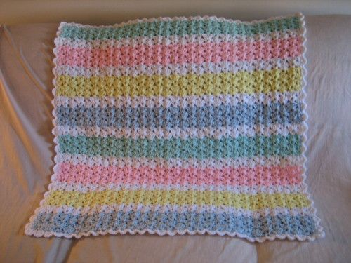 Shells And Double Crochets Baby Afghan Free Crochet Afghan