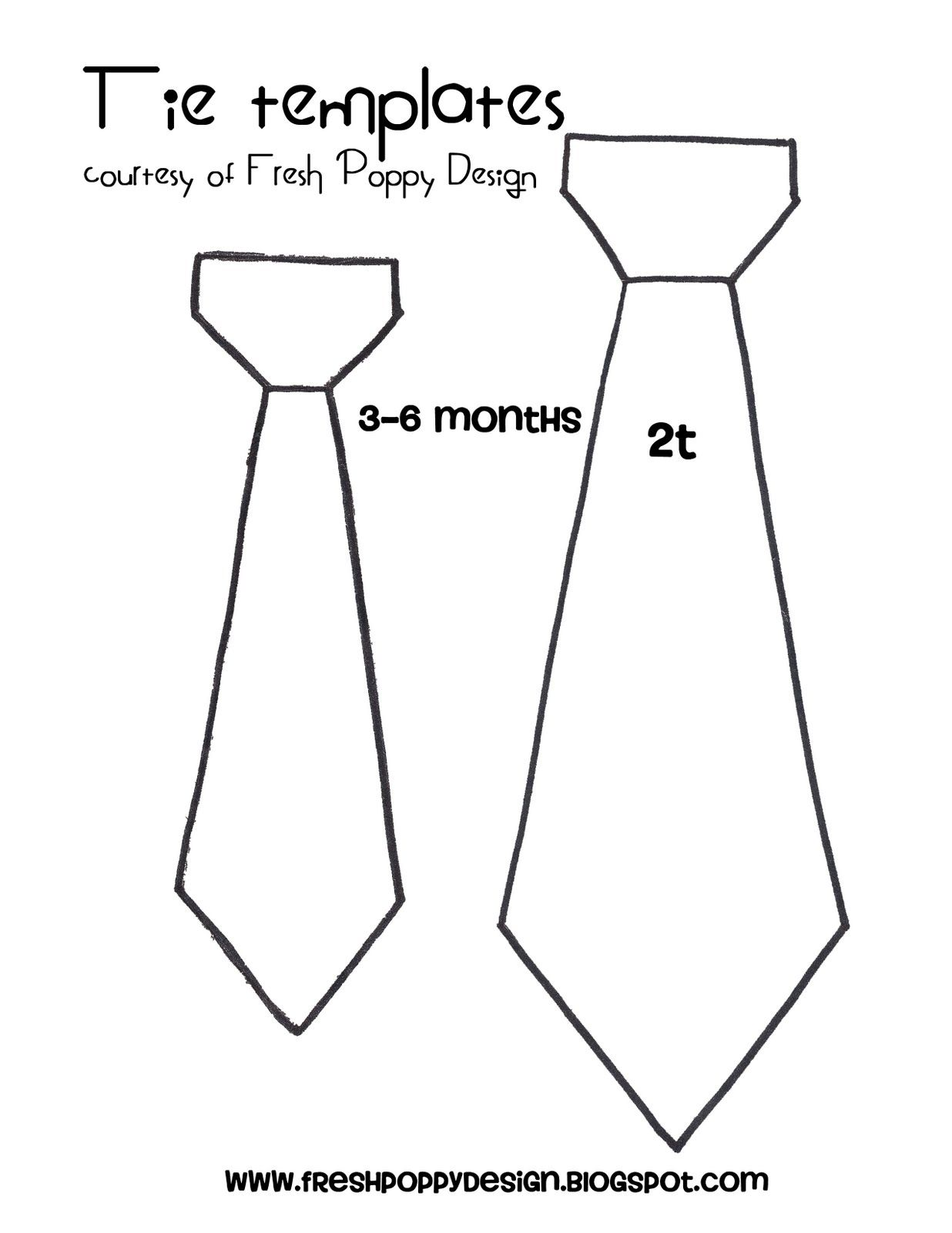 tie template!! Def going to use this. :)