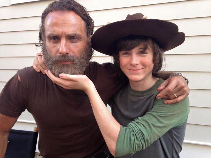 Andrew Lincoln & Chandler Riggs