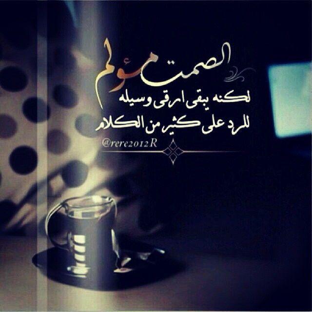 الصمت مؤلم لكنه يبقى ارقى وسيله للرد على كثير من الكلام Favorite Book Quotes Quran Quotes Love Words Quotes