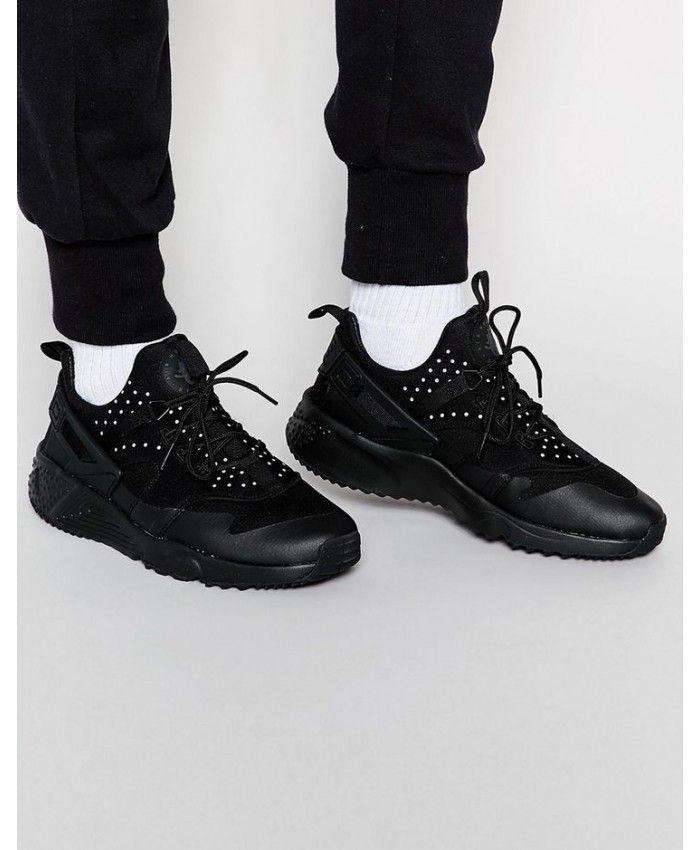 3075e2536039 Nike Air Huarache Utility Black Trainers