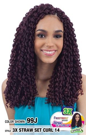 3X STRAW SET CURL 14 | Straw set curls, Straw curls