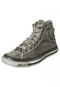 Diesel Women's Shoes MAGNETE EXPOSURE - High-top trainers - gun metal