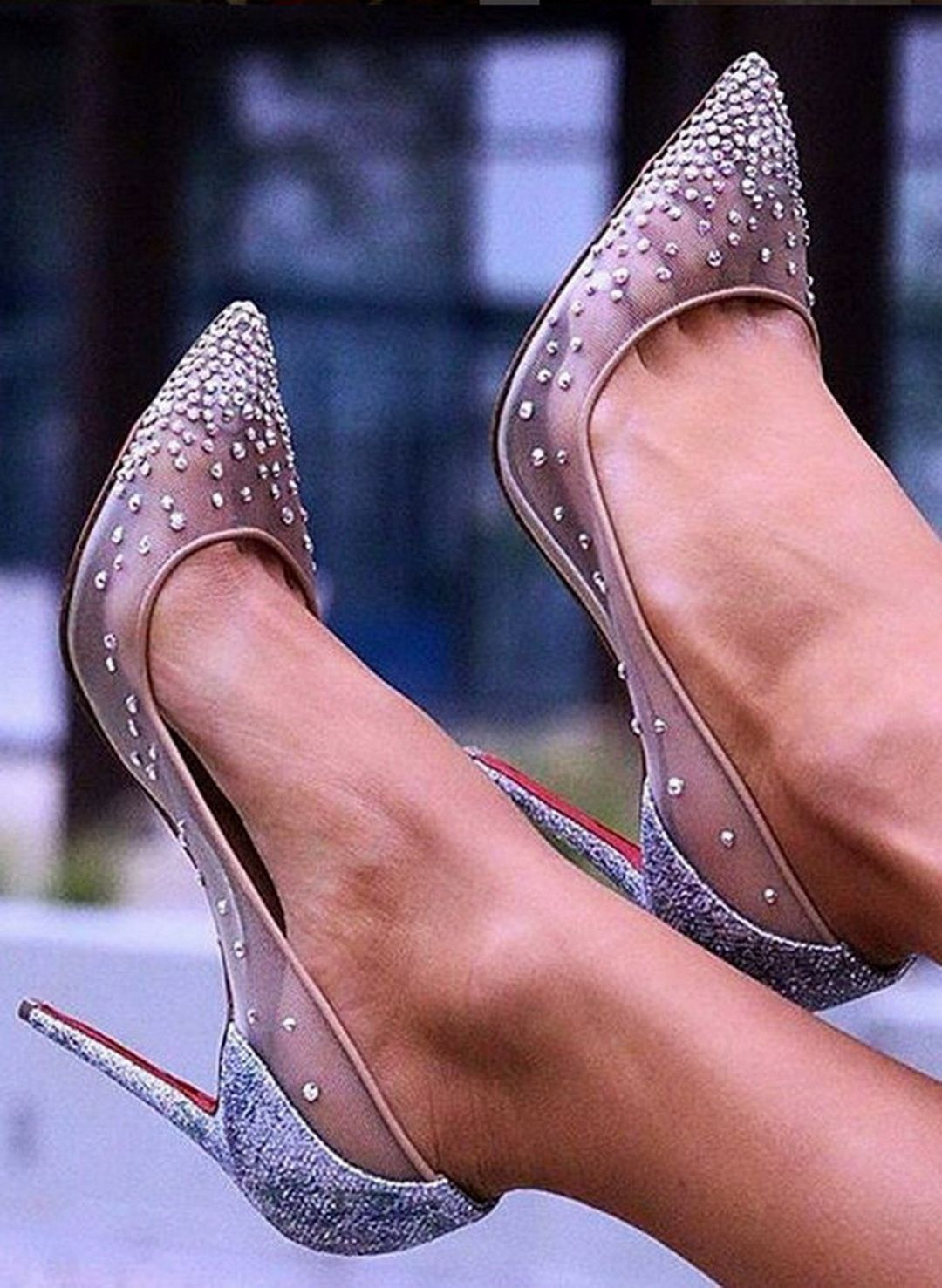 outlet store 4f03a a8d47 Christian Louboutin Follies Strass | รองเท้าเจ้าสาว in 2019 ...
