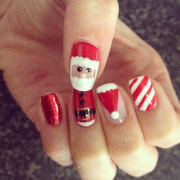 Cute Santa Claus Nail Designs Fashionsy Alejandra