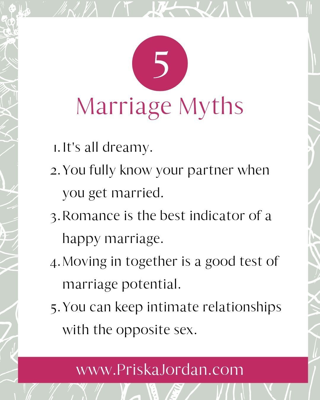 Do You Believe These 5 Marriage Myths