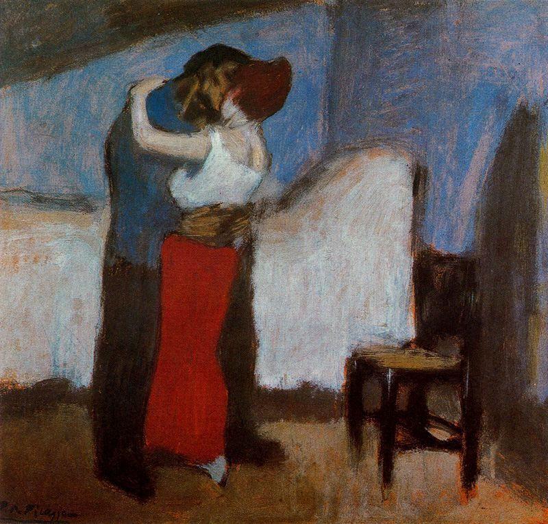 """El abrazo. También conocido como:""""La cita"""". 1900."""