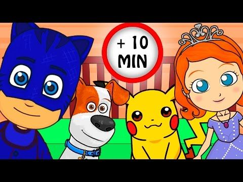 CINCO MONITOS Recopilación con PJ Masks, Disney Jr, Pokemon, Mascotas | Canciones infantiles - YouTube