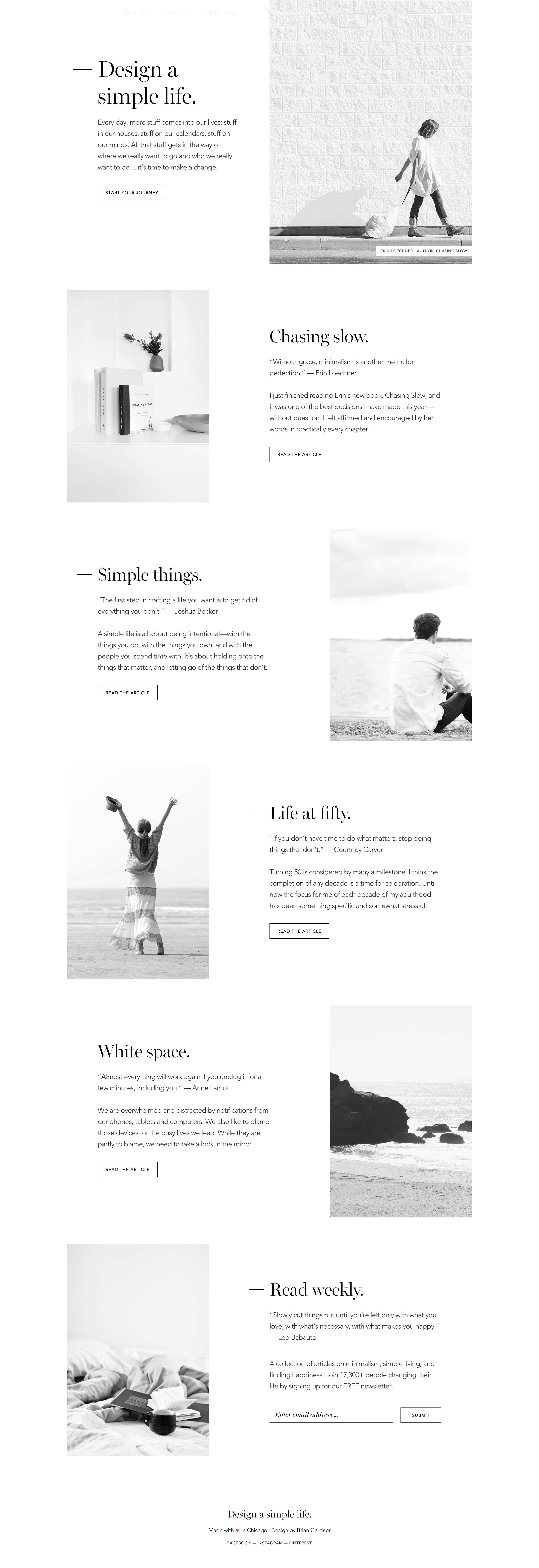 No Sidebar Minimal Website Design Sidebar Design Minimal Web Design