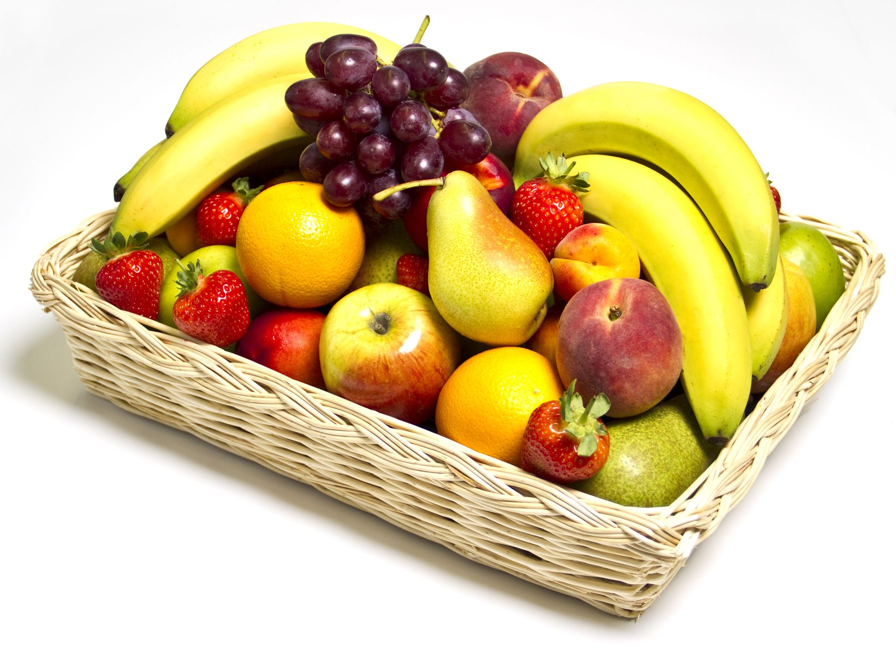 A fruit basket is ideal to help staff fulfil their 5aday