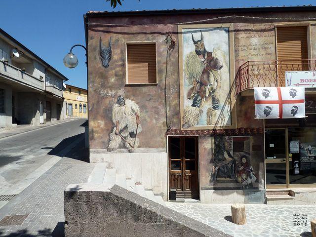 street art of Ottana, Sardinia, #boes & #merdules, #murales