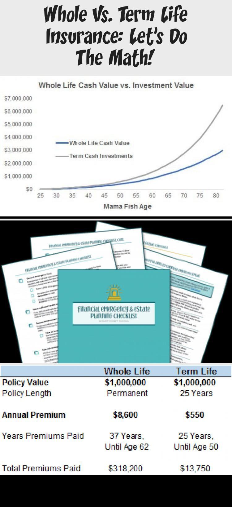 Whole vs. Term Life Insurance Let's Do the Math! Smart