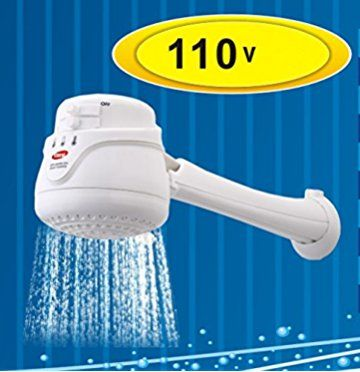Coral Max 110v New Model Electric Instant Hot Water Shower Head Heater Free Wall Support Tube Included Shower Heads Tankless Water Heater Hot Water