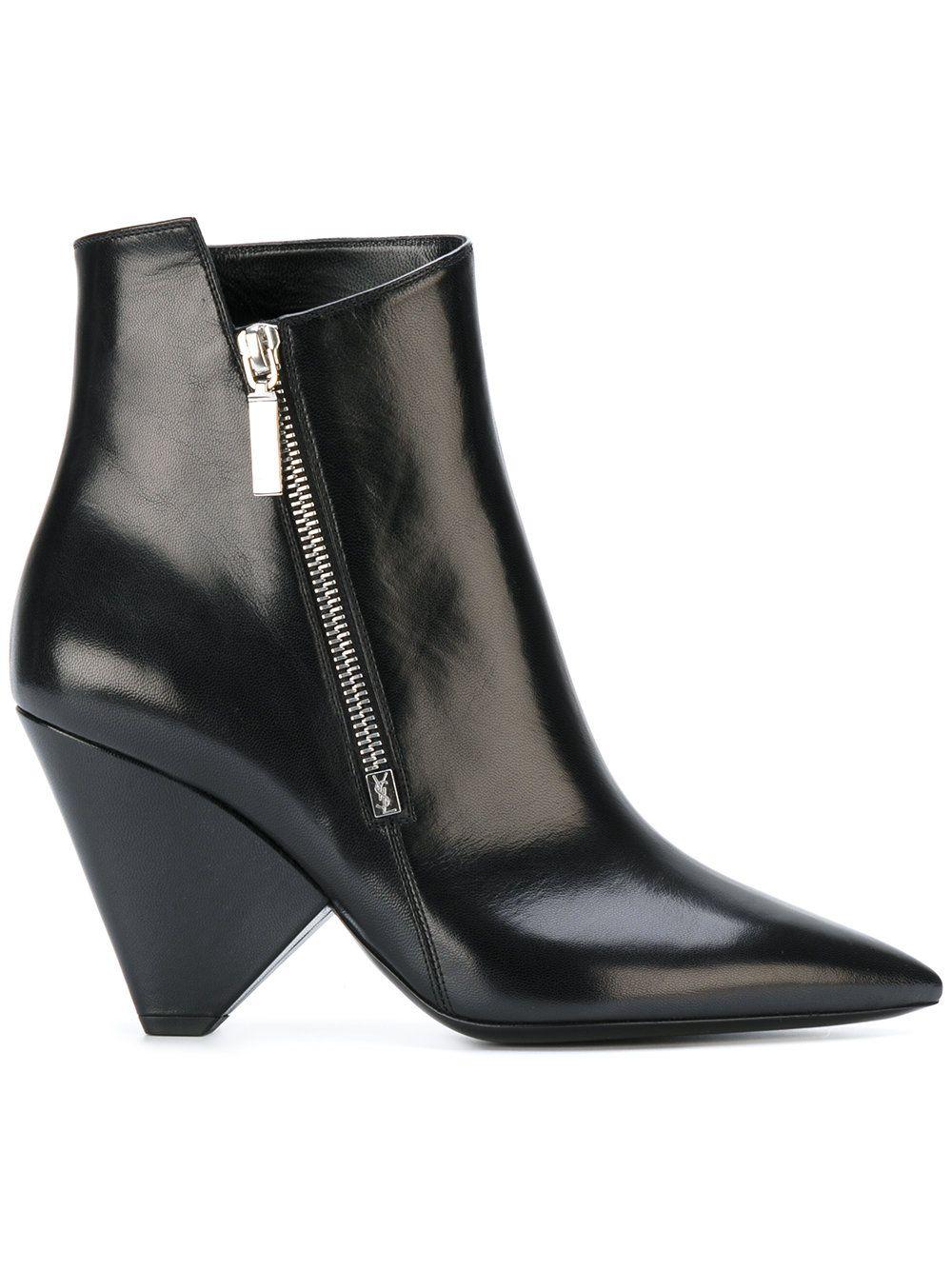 7bc62cb5d000 Saint Laurent Niki 85 asymmetrical boots