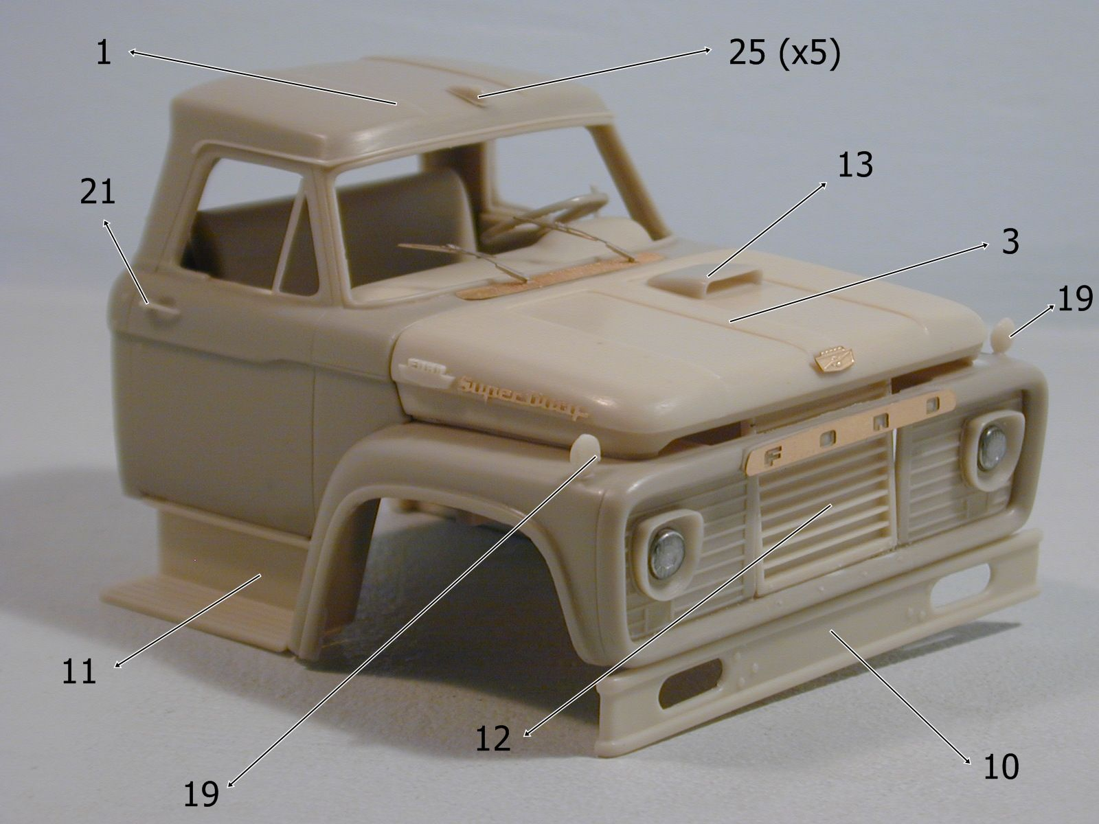 Dans Models Ford F Cab   Scale Resin Kit