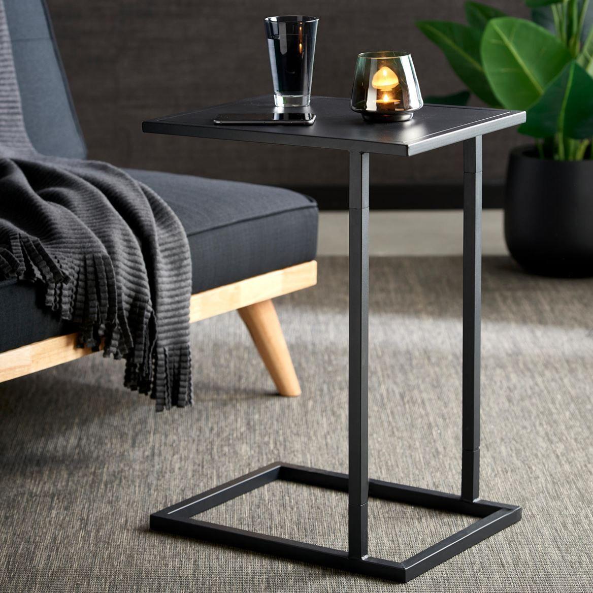 Britta Bijzettafel Zwart H 59 X B 33 X L 43 Cm Table De Canape Table D Appoint Mobilier De Salon