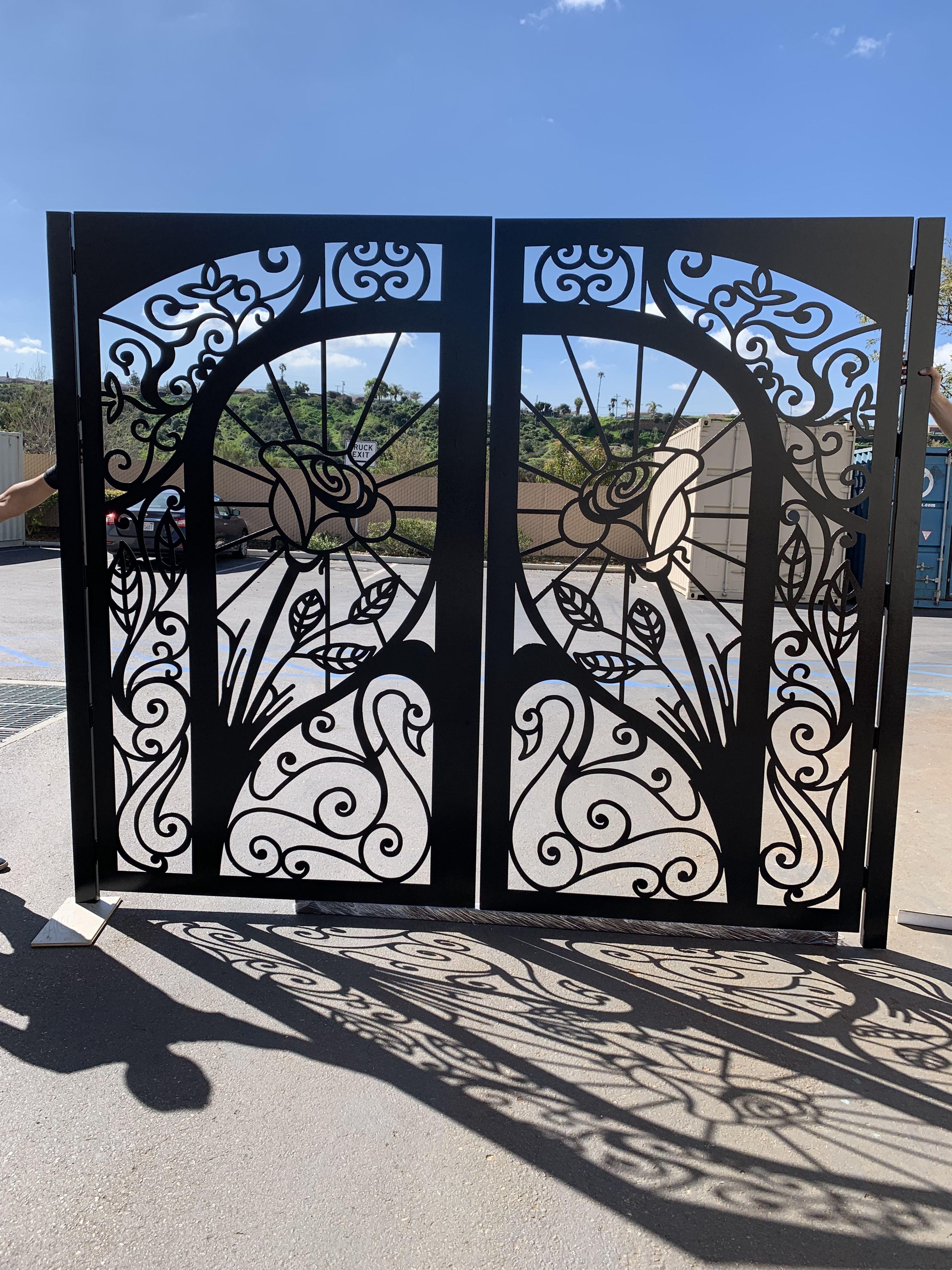 Davinci Gate Metal Doors Exterior Gate Designs Modern Gate Design