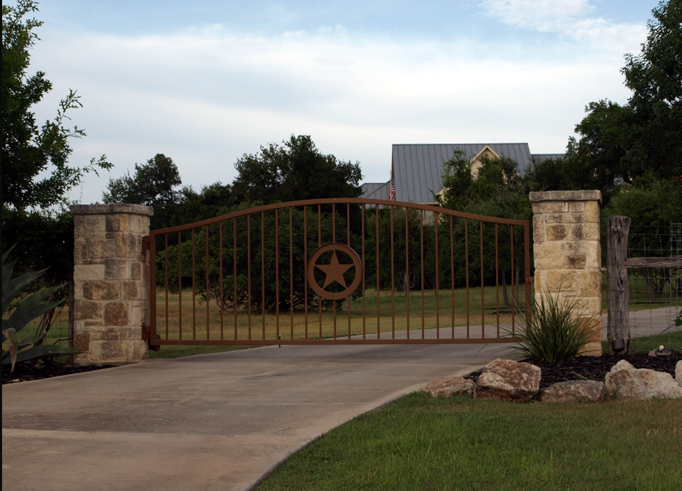 Star Entrance Gate House Ideas Exterior Driveway Gate
