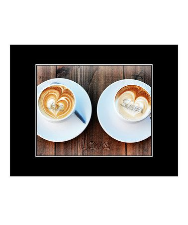 Another great find on #zulily! Cappuccino Hearts Personalized Print #zulilyfinds